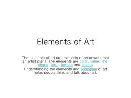 Elements of Art - Ithaca City School District