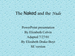 The Naked and the Nude
