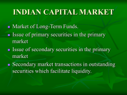 INDIAN CAPITAL MARKET - HUM … The Revolution