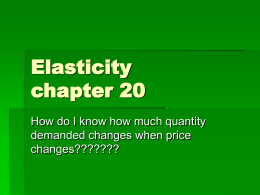 Elasticity chapter 20 - Vernon Hills High School