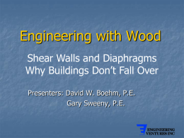 Engineering with Wood - CEMS Home : University of Vermont
