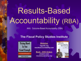 Results and Performance Accountabilty, Decision