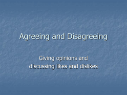 Agreeing and Disagreeing - RAMOS ON