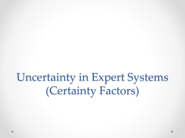 Uncertainty in Expert Systems (Certainty Factor)