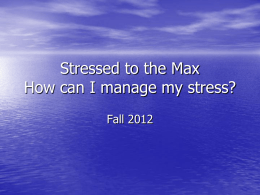 Stress Management - Ridgewater College