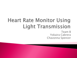 Heart Rate Monitor Using Light Transmission