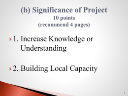 (b) Significance of Project 10 points(recommend 4 pages)