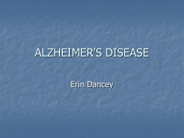 ALZHEIMER DISEASE - University of Guelph
