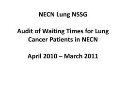 NECN Gynae-Oncology NSSG Audit of Waiting Times for Gynae