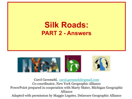 The Silk Road - University of Delaware