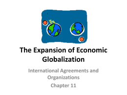 The Expansion of Economic Globalization