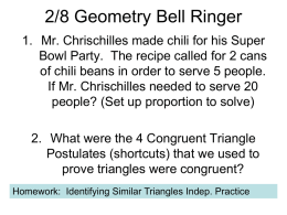 2/8 Geometry Bell Ringer - Mr. Chrischilles's Class