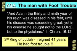 Asa - The Man With Foot Trouble