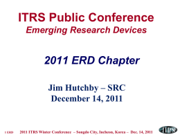 Emerging Research Logic Devices1 PIDS ITWG Emerging New