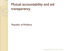 Moldova - Presentation - Mutual Accountability and Aid