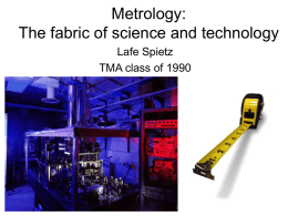 What is metrology?