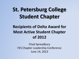 Most Active Student Chapter (Delta)
