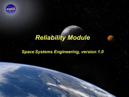 Space Systems Engineering: Reliability Module Reliability