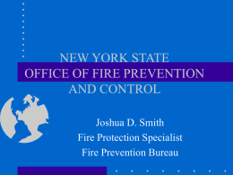 NEW YORK STATE OFFICE OF FIRE PREVENTION AND CONTROL