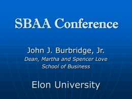 SBAA Conference - Southern Business Deans