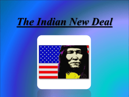 The Indian New Deal - University of Miskolc