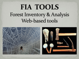 FIA TOOLS - Forest Inventory and Analysis National Program