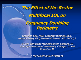 The Effect of the Restor Multifocal IOL on Automated
