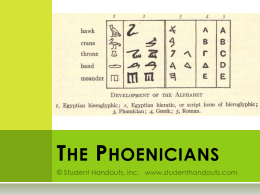 The Ancient Phoenicians PowerPoint Presentation
