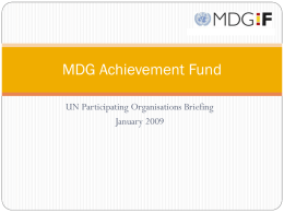 MDG Achievement Fund