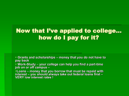 Now that I've applied to college… how do I pay for it?