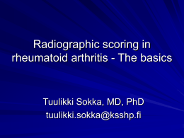 Scoring methods to analyze radiographs in patients with
