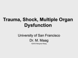 Trauma, Shock, Multiple Organ Dysfunction
