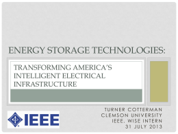 Energy Storage Technologies: Transforming the U.S