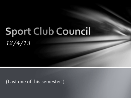 Sport Club Council - University of Kansas