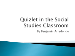 How to sign up for a Quizlet Account.