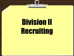 Division II Recruiting - NCAA.org