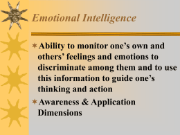 Applying Emotional Intelligence