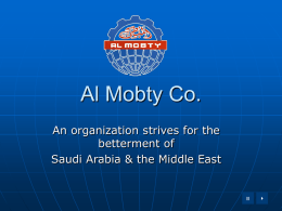 Al Mobty Co. for Contracting