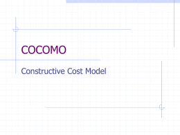 COCOMO - Official Site of DRS, HARYANTO , MMSI