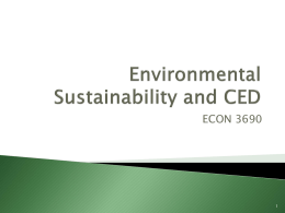 Environmental Sustainability and CED