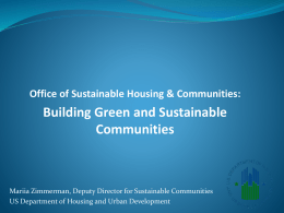 Office of Sustainable Housing & Communities: