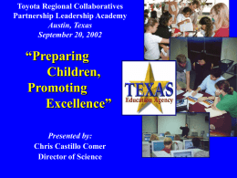 Preparing Children, Promoting Excellence""