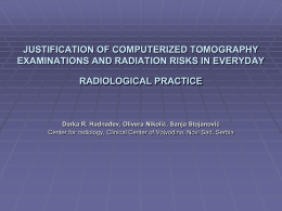 JUSTIFICATION OF COMPUTERIZED TOMOGRAPHY EXAMINATIONS …