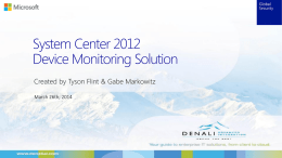 System Center 2012 Device Monitoring Solution SNMP Device