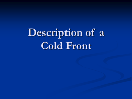 Description of a Cold Front