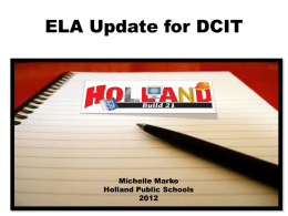ELA Update for DCIT