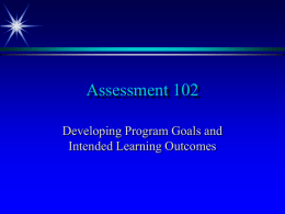 Assessment 102 - St. Norbert College
