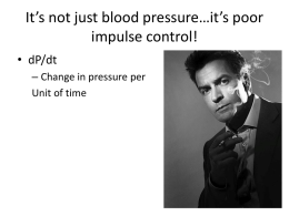 It's not just blood pressure…it's poor impulse control!