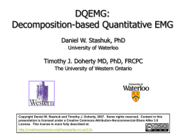 DQEMG: From theory to application