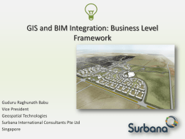 GIS and BIM Integration Business Framework